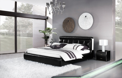 KING COLLEGNO LEATHERETTE BED (A9301) - ASSORTED COLOURS - (WITH OPTIONAL UPGRADE FOR GAS LIFT UNDERBED STORAGE)