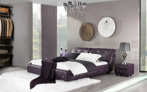 ANZIO KING 3 PIECE BEDSIDE BEDROOM SUITE (WITH #156 BEDSIDES) - LEATHERETTE - ASSORTED COLOURS - (WITH OPTIONAL UPGRADE FOR GAS LIFT UNDERBED STORAGE)