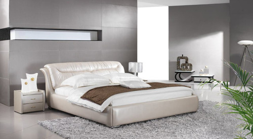 QUEEN FOLIGNO LEATHERETTE BED (A9311) - ASSORTED COLOURS - (WITH OPTIONAL UPGRADE FOR GAS LIFT UNDERBED STORAGE)