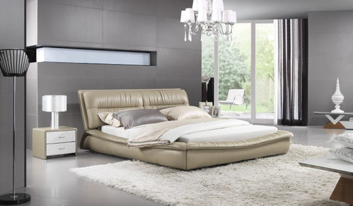SCILLA QUEEN 3 PIECE BEDSIDE BEDROOM SUITE (WITH #155 BEDSIDES) - LEATHERETTE - ASSORTED COLOURS
