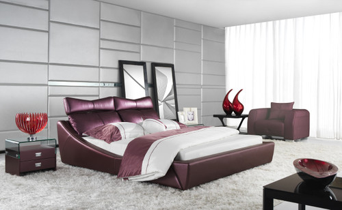 RHO QUEEN 3 PIECE BEDSIDE BEDROOM SUITE - LEATHERETTE - ASSORTED COLOURS