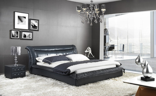 ALEXANDRO KING 3 PIECE BEDSIDE BEDROOM SUITE (WITH #156 BEDSIDES) - LEATHERETTE - ASSORTED COLOURS - (WITH OPTIONAL UPGRADE FOR GAS LIFT UNDERBED STORAGE)