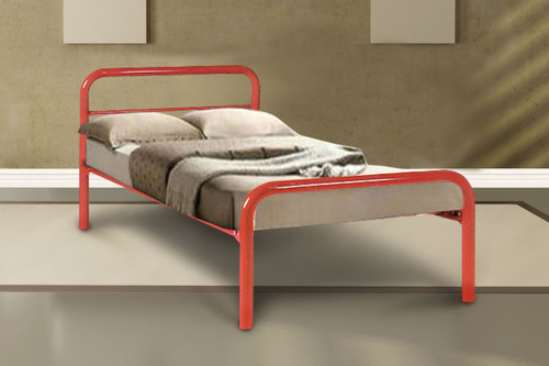 DOUBLE AUSTRALIAN MADE BUDGET METAL BED - ASSORTED COLOURS