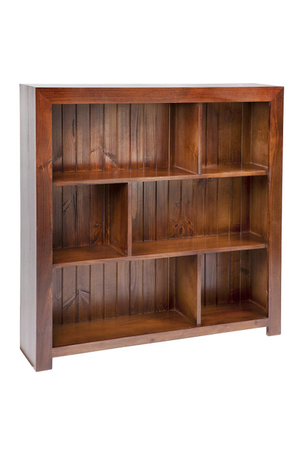 DERBY (AUSSIE MADE) STAGGERED LOWLINE BOOKCASE WITH BACK (3x2) - 900(H) X 600(W) - ASSORTED COLOURS