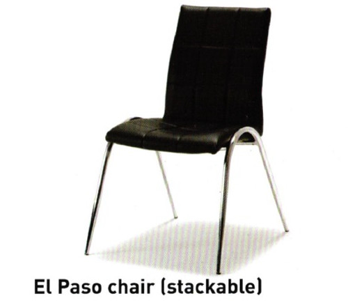 EL PASO DINING CHAIR - BLACK OR WHITE