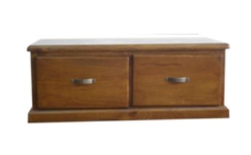 CENTURY 2 DRAWER COFFEE TABLE 1300(W) X 900(D)MM - PRICED IN BRIGHT WHITE (PICTURED IN BROWN)