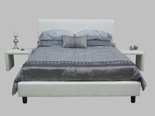 CAMDEN QUEEN 3 PIECE BEDROOM SUITE WITH WAVERLEY BEDSIDES (SEE ADDITIONAL IMAGE FOR BEDSIDES) - BLACK OR WHITE