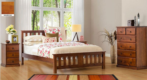 CARRINGTON DOUBLE OR QUEEN 4 PIECE (TALLBOY) BEDROOM SUITE WITH STANDARD CASE GOODS - CHOCOLATE