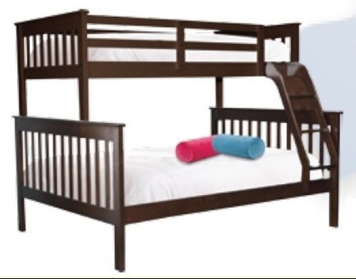 EVEREST TRIO BUNK BED - BRIGHT WHITE OR CAPPUCCINO (PICTURED)