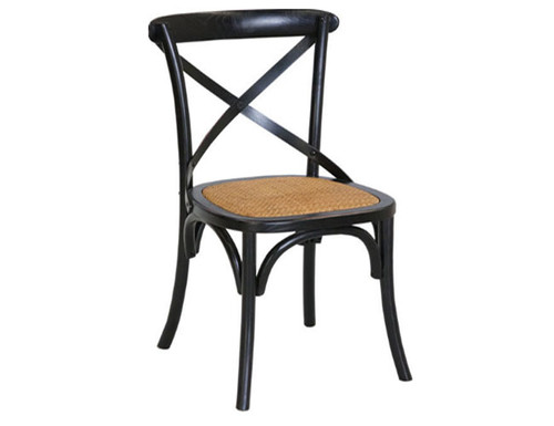CROSSBACK CHAIR - BLACK