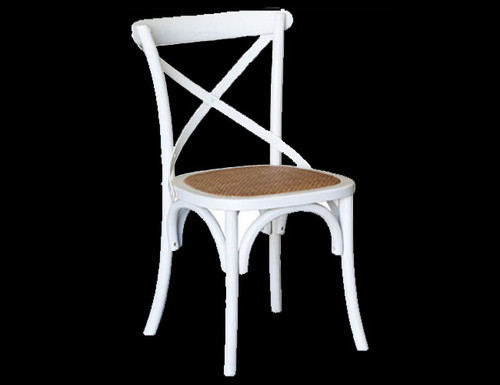 CROSSBACK CHAIR - WHITE