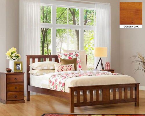 CARRINGTON KING 3 PIECE BEDSIDE BEDROOM SUITE WITH STANDARD CASE GOODS - CHOCOLATE