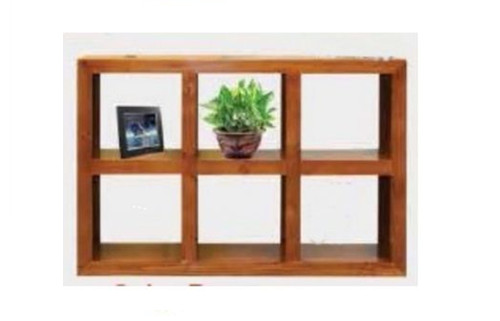 (D) LOW 6 CUBE BOOKSHELF / DISPLAY - 1000(H) X 1500(W) - WALNUT (1986) OR BLACKWOOD (1372)