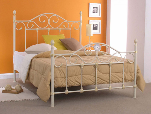 DOUBLE NAIDINE BED (MODEL 1-22-15-14-20) - IVORY (NO GOLD BRUSH) - SIMILAR TO BED IN IMAGE