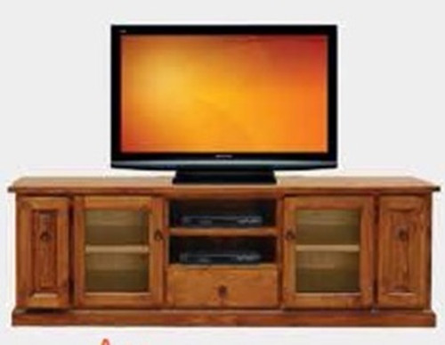 ACE TV UNIT - 670(H) X 1980(W) -  BLACKWOOD (1189)