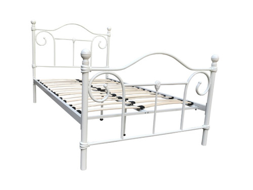 KING SINGLE NAIDINE BED (MODEL 1-22-15-14-20) - IVORY