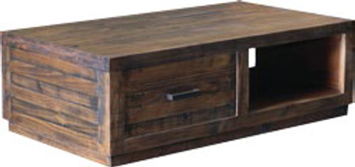 AUCKLAND  COFFEE TABLE WITH 2 DRAWERS (3327) -   1270(W) X 450(D) - SMOKEY GUM