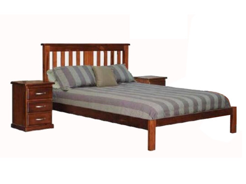 DOUBLE MOREWELL BED FRAME - ROUGH SAWN (1348)