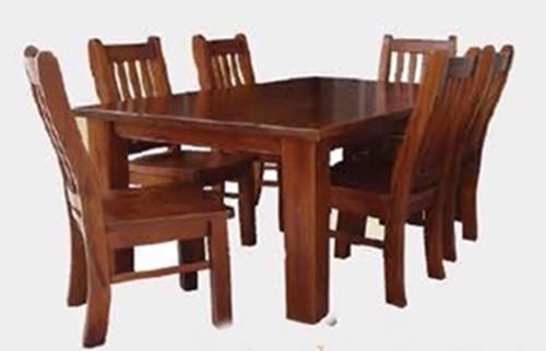 SPRING 7 PIECE DINING SETTING - 1800(L) x 1050(W) - ROUGH SAWN (1097)
