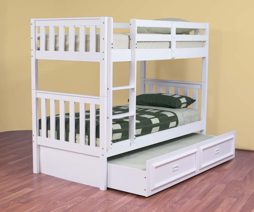 King Single White Bunk Beds Online Furniture Bedding Store