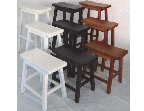 SADDLE STOOL - SEAT: 720(H) - WHITE, TEAK, DARK WALNUT, BUFF/TEAK OR WHITE TEAK