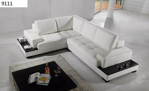 AMILY (9111) CORNER LEATHER LOUNGE SUITE - ASSORTED COLOURS AVAILABLE