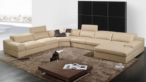 FIONA (A002-2) CORNER LOUNGE SUITE WITH CHAISE - ASSORTED COLOURS AVAILABLE