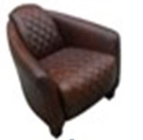 AREZZO  (2003) 1 SEATER FULL LEATHER CHAIR