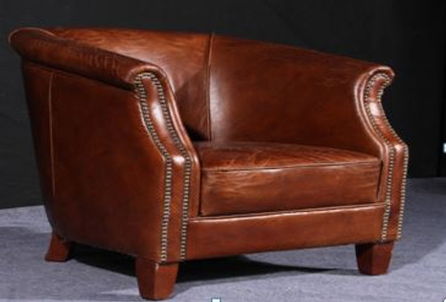 GELA (2036) 1 SEATER  CHAIR  -  FULL LEATHER