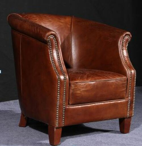 CREMONA (2037) 1 SEATER  CHAIR  -  FULL LEATHER