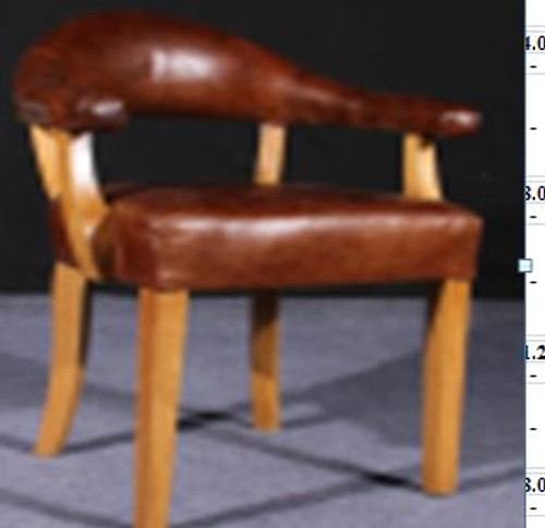 CUNEO  (2050) 1 SEATER  CHAIR  -  FULL LEATHER