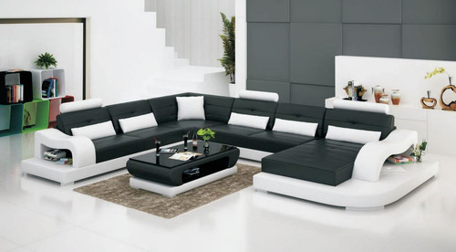 KENDAL (G8005) CORNER LOUNGE SUITE + COFFEE TABLE - CHOICE OF LEATHER AND ASSORTED COLOURS AVAILABLE