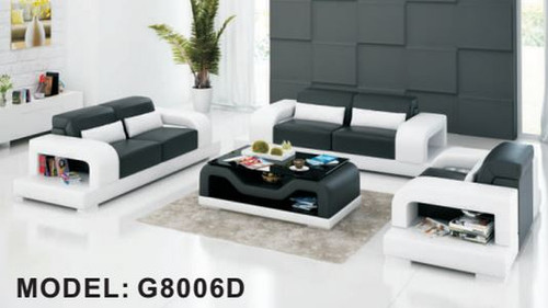 DAYRELL (G8006D) 3 SEATER + 2 SEATER + 1 SEATER LOUNGE  SUITE WITH  COFFEE TABLE - CHOICE OF LEATHER AND ASSORTED COLOURS AVAILABLE