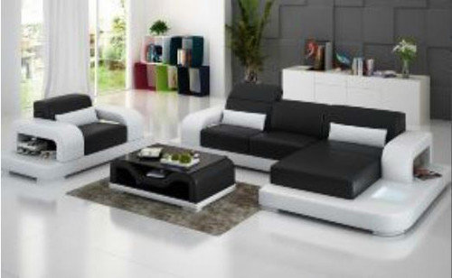 BENNETT (G8006E) CHAISE SUITE + COFFEE TABLE - CHOICE OF LEATHER AND ASSORTED COLOURS AVAILABLE