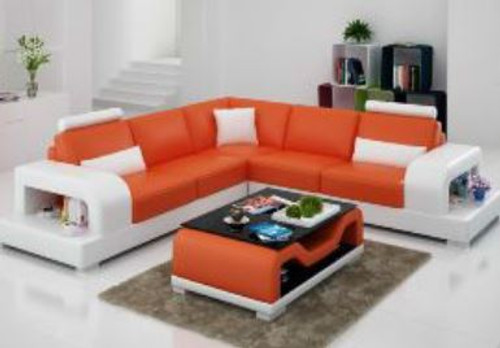 NESFIE (G8007B) CORNER LOUNGE SUITE + COFFEE TABLE - CHOICE OF LEATHER AND ASSORTED COLOURS AVAILABLE