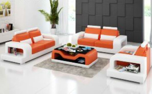 DAYRELL (G8007D) 3 SEATER + 2 SEATER + 1 SEATER LOUNGE  SUITE WITH  COFFEE TABLE - CHOICE OF LEATHER AND ASSORTED COLOURS AVAILABLE