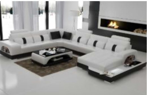MASKALL (G8015) CORNER LOUNGE SUITE + COFFEE TABLE - CHOICE OF LEATHER AND ASSORTED COLOURS AVAILABLE
