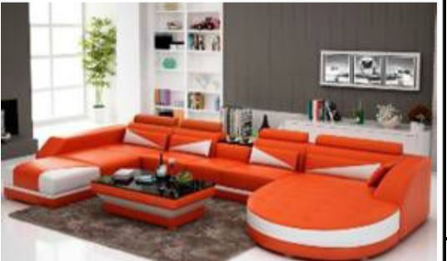 YORO (G8018)  DOUBLE CHAISE LOUNGE + COFFEE TABLE  - CHOICE OF LEATHER AND ASSORTED COLOURS AVAILABLE