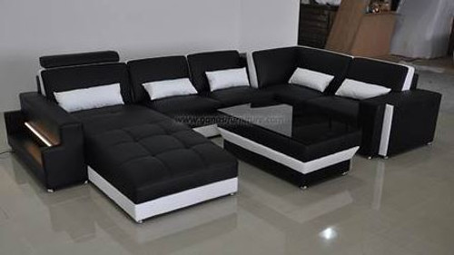 CHANCY (G8019)  CHAISE LOUNGE + COFFEE TABLE  - CHOICE OF LEATHER AND ASSORTED COLOURS AVAILABLE