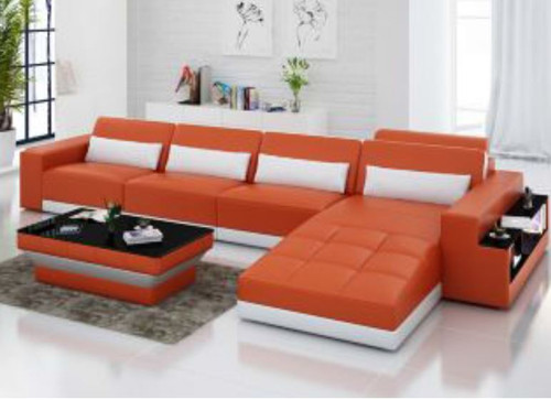 CHANCY (G8019C) CHAISE LOUNGE + COFFEE TABLE  - CHOICE OF LEATHER AND ASSORTED COLOURS AVAILABLE