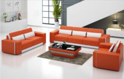 CHANCY (G8019D)  3 SEATER + 2 SEATER + 1 SEATER  LOUNGE + COFFEE TABLE  - CHOICE OF LEATHER AND ASSORTED COLOURS AVAILABLE