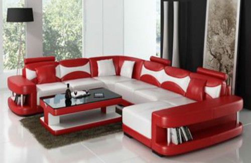 CHESHIRE (F3001) CORNER LOUNGE SUITE + COFFEE TABLE - CHOICE OF LEATHER AND ASSORTED COLOURS AVAILABLE