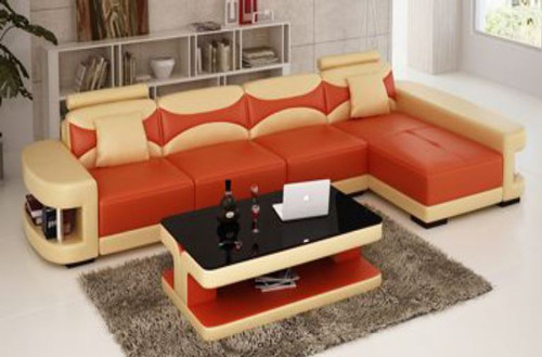 CHESHIRE (F3001C) CHAISE LOUNGE SUITE +  COFFEE TABLE - CHOICE OF LEATHER AND ASSORTED COLOURS AVAILABLE