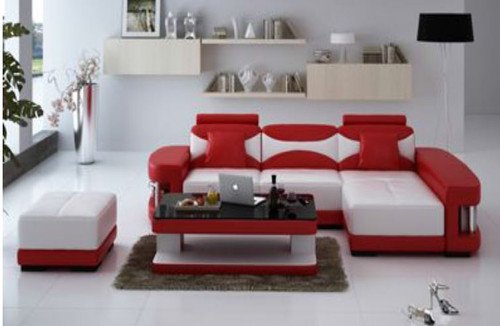 CHESHIRE (F3001D) CHAISE LOUNGE SUITE +  COFFEE TABLE  & FOOT STOOL - CHOICE OF LEATHER AND ASSORTED COLOURS AVAILABLE