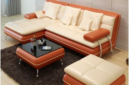 BESTON (F3015C) CHAISE LOUNGE  + COFFEE TABLE - CHOICE OF LEATHER AND ASSORTED COLOURS AVAILABLE