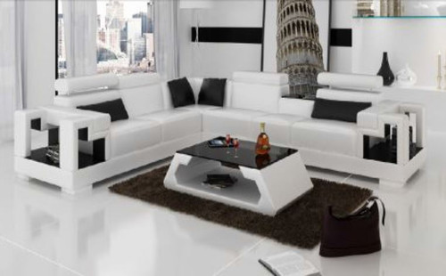 HALTONI (K5001B) CORNER  LOUNGE SUITE +  COFFEE TABLE - CHOICE OF LEATHER AND ASSORTED COLOURS AVAILABLE