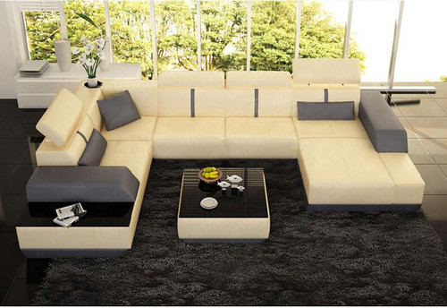 MARSAS (K5015) CORNER LOUNGE SUITE WITH CHAISE + COFFEE TABLE - CHOICE OF LEATHER AND ASSORTED COLOURS AVAILABLE
