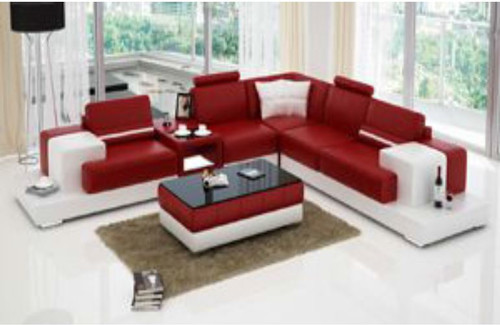 RANMONT (L6004B) CORNER  LOUNGE  SUITE +  COFFEE TABLE - CHOICE OF LEATHER AND ASSORTED COLOURS AVAILABLE