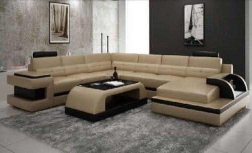 ANNECCY (L6017) CORNER  LOUNGE  SUITE +  COFFEE TABLE - CHOICE OF LEATHER AND ASSORTED COLOURS AVAILABLE