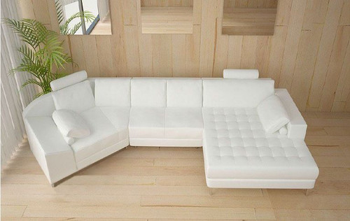 BAYONNE (A116) CORNER LOUNGE - CHOICE OF LEATHER AND ASSORTED COLOURS